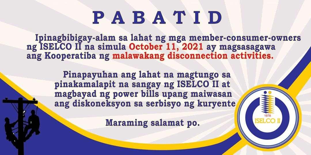 Malawakang Disconnection Activities | October 11, 2021